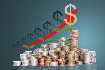 גרף של כסף שגדל